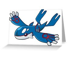Pokemon- Kyogre Greeting Card