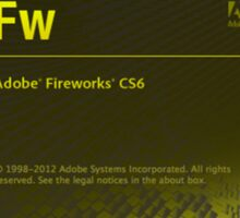 Fire Works CS6 Splash Screen Sticker