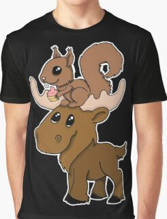 Moose, squirrel and cupcake Graphic T-Shirt