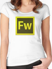 Fire Works CS6 Logo Women's Fitted Scoop T-Shirt