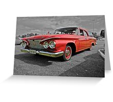 Plymouth Deluxe Suburban Wagon Greeting Card