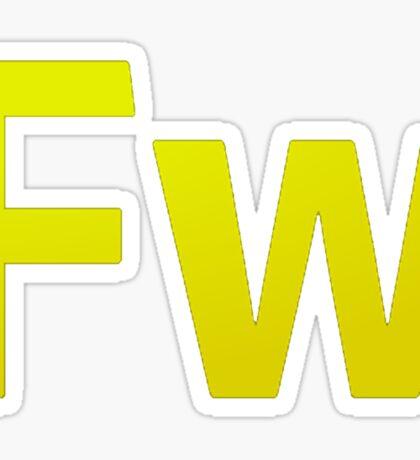 Fire Works CS6 Letters Sticker