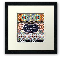 Aztec  fashion seamless  tribal pattern Framed Print