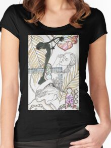 american sculpture tangle Women's Fitted Scoop T-Shirt