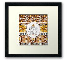 Aztec decorative seamless pattern Framed Print