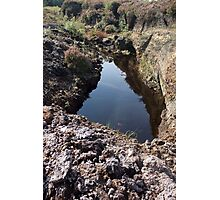 Head drain of the Bog Photographic Print