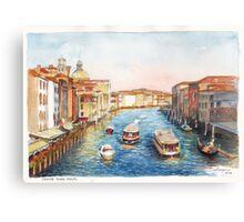 Venice Rush Hour Canvas Print
