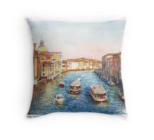 Venice Rush Hour Throw Pillow