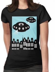 Aliens invading Amsterdam Womens Fitted T-Shirt