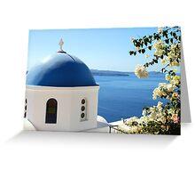 Oia, Santorini, Greece Greeting Card