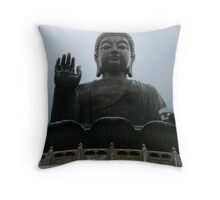 Giant Buddha Statue Throw Pillow