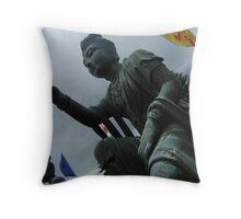 Buddhist Statue Throw Pillow