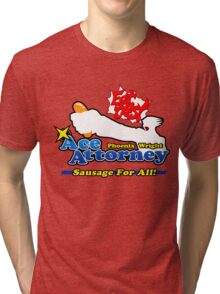 Ace Attorney: Sausage For All Tri-blend T-Shirt