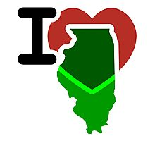 I Heart Love Illinois IL Photographic Print