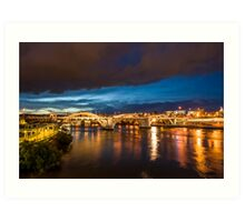 Approaching Storm over Brisbane Art Print