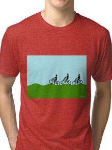 Three cyclists Tri-blend T-Shirt