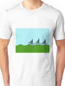 Three cyclists Unisex T-Shirt