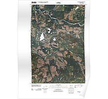 USGS Topo Map Washington State WA Bald Hill 20110405 TM Poster