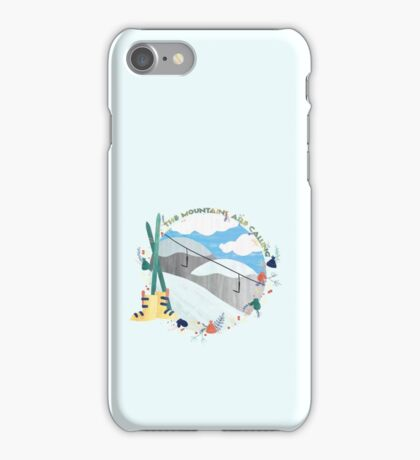 The Mountains Are Calling - Slopes iPhone Case/Skin