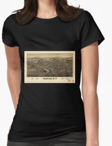 Panoramic Maps Canton NY Womens Fitted T-Shirt