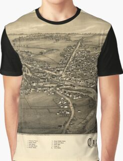 Panoramic Maps Canton NY Graphic T-Shirt