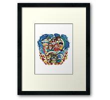 Totoro & Company Framed Print
