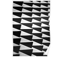 Abstract spike wall Poster