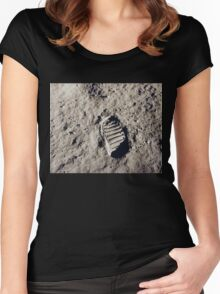First Step on the Moon Women's Fitted Scoop T-Shirt