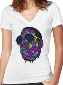 Rap Gangster Women's Fitted V-Neck T-Shirt