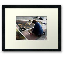 chalk master Framed Print