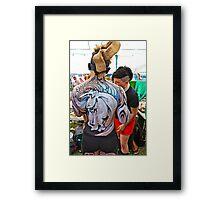 Punked Stallion Framed Print
