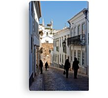 historical street with tourists Canvas Print