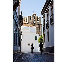 historical street with tourists Photographic Print
