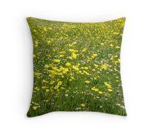 Buttercups & Daisies Throw Pillow