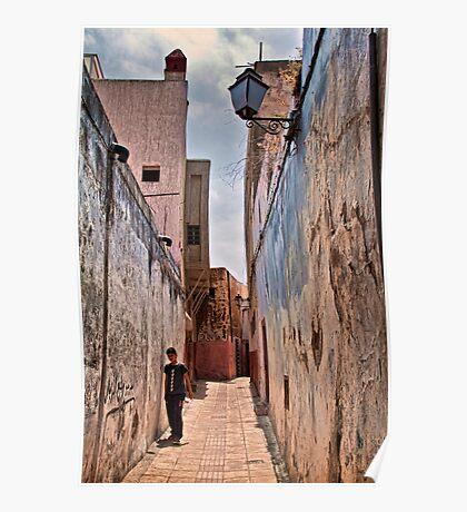 Morocco. Rabat. Medina. Street. Poster