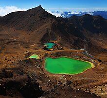 Emerald Lakes - Tongariro Crossing  New Zealand by Mark Shean