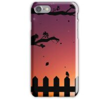 Sunset in the Fall iPhone Case/Skin
