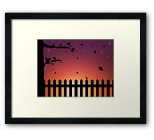 Sunset in the Fall Framed Print