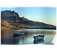 Boats on Loch Fade Poster