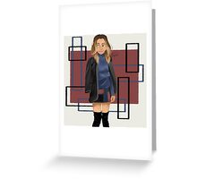 The trend pear-Eleanor Greeting Card