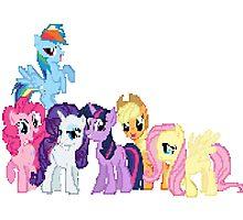 Mane 6 Pixel My Little Pony Brony Pegasister Photographic Print