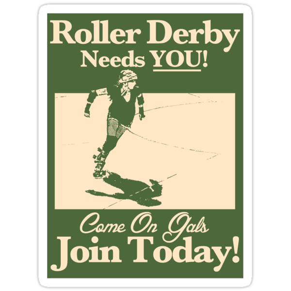 Roller Girl Recruitment Sticker by John Perlock