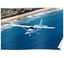 Cessna Cruising - Clifton Beach, Tasmania Poster