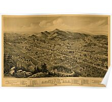 Panoramic Maps Bird's eye view of Anniston Ala 1888 Poster