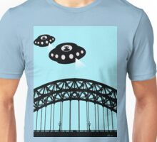 Aliens invade Newcastle Unisex T-Shirt