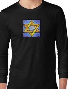 Stained Glass Star Long Sleeve T-Shirt