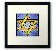 Stained Glass Star Framed Print