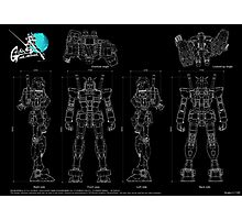 Gundam RX-78  Photographic Print