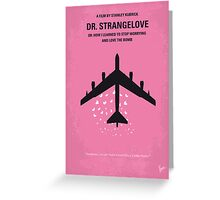 No025 My Dr Strangelove minimal movie poster Greeting Card