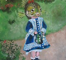 Fish With Watering Can by Ellen Marcus
